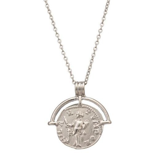 Collier argente medaille