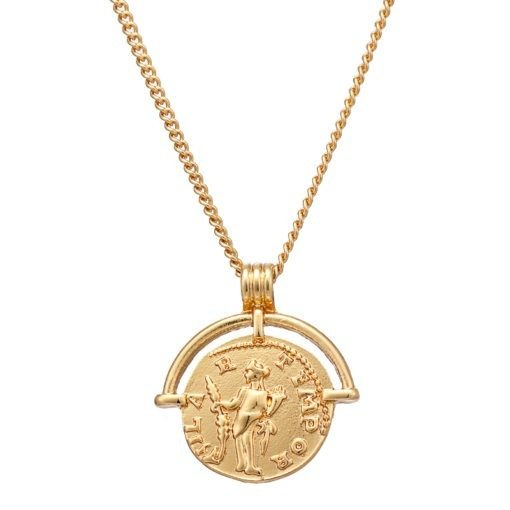 Collier dore medaille