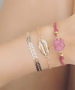 Ensemble bracelets pierre