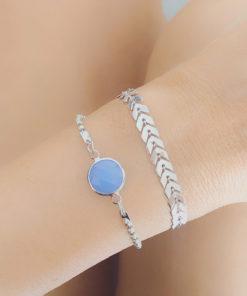 Ensemble bracelets tendance 2019 - argent