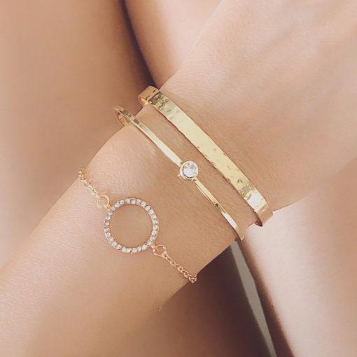 Set de bracelets dores