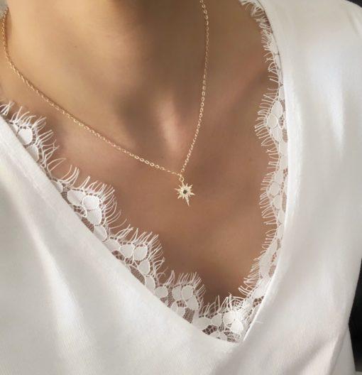 collier pendentif etoile strass