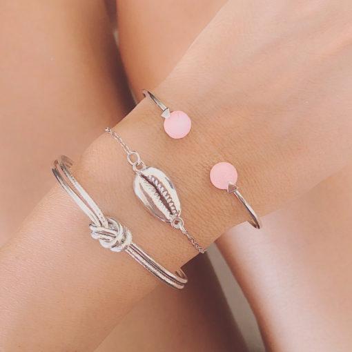 Set de 3 bracelets argentés