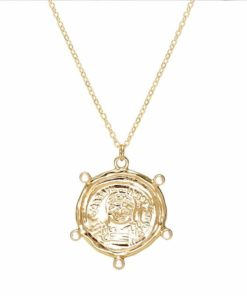 Collier medaille grecque antique