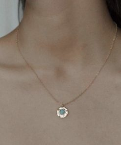 Collier pierre ronde lapis lazuli