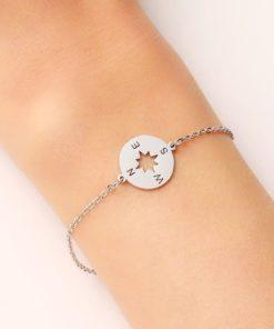 Bracelet boussole acier