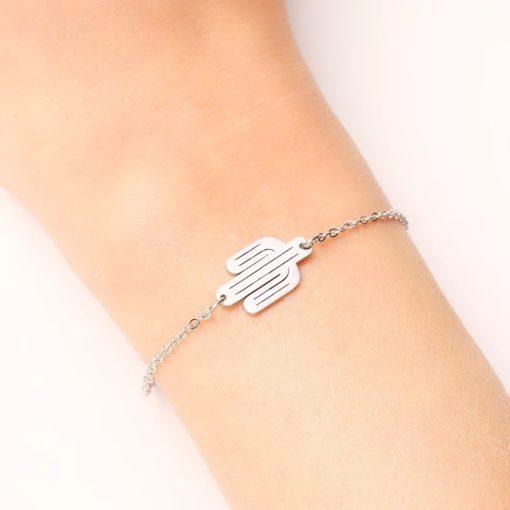 Bracelet cactus acier