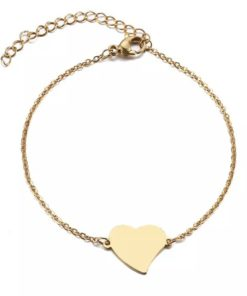 Bracelet chaine coeur