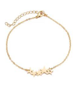 Bracelet chaine etoiles