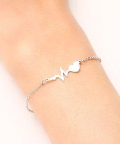 Bracelet coeur acier