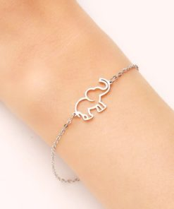 Bracelet elephant acier