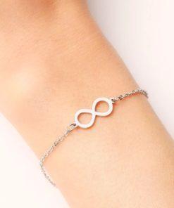 Bracelet infini acier