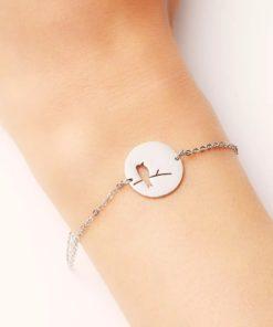 Bracelet medaille acier