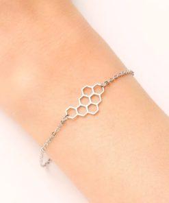 Bracelet nid d abeille acier