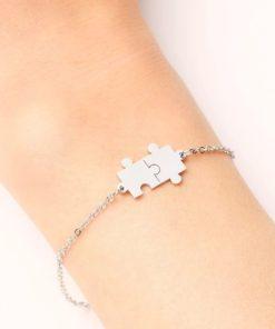 Bracelet puzzle acier
