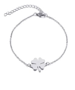 Bracelet trefle acier