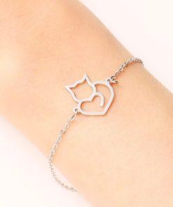 Bracelet chat acier