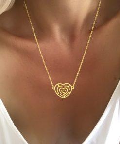 Collier tendance pendentif coeur