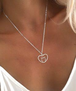 collier original pendentif coeur