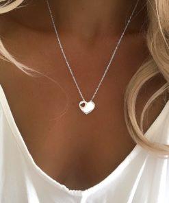 collier pendentif coeur acier